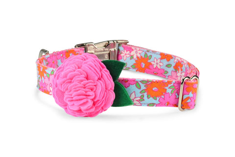 New! Lilly P. Bloom Dog Collar w/ Carnation Bloom