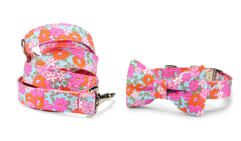 New! Lilly P. Bow Tie Collar and Leash Set