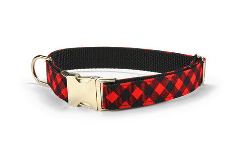 Red And Black Buffalo Plaid Dog Leash