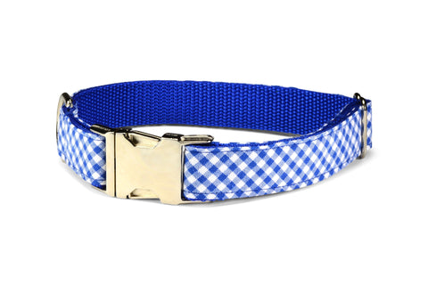 Royal Gingham Bow Tie Collar and Leash Set
