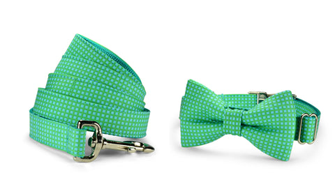 Seaside Criss Cross Bow Tie Collar and Leash Set