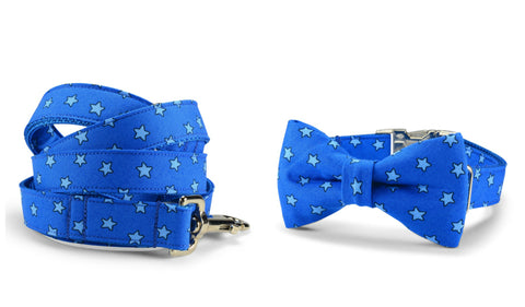 New! Super Star Bow Tie Collar and Leash Set