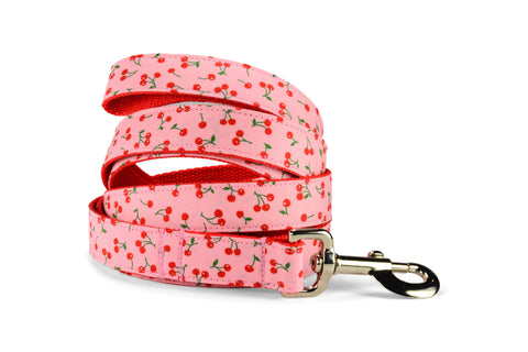 New! Sweet Cherries Dog Leash