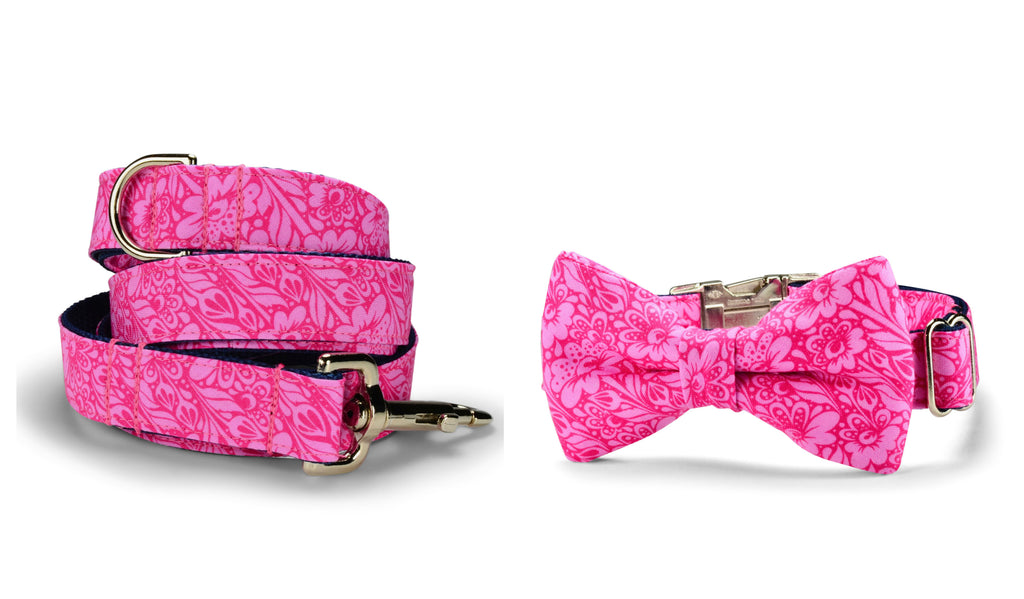 Talula Belle Bow Tie Collar and Leash Set