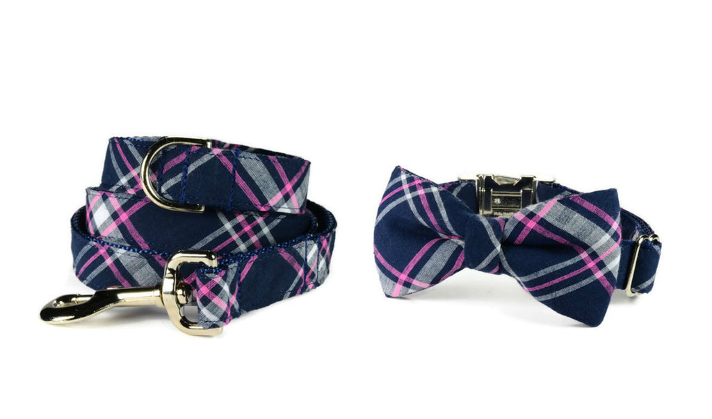 The Charleston Bow Tie Collar and Leash Set