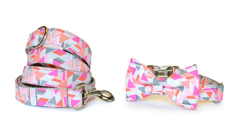 The Emmy Bow Tie Collar and Leash Set