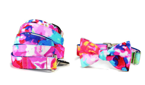 The Monet Bow Tie Collar and Leash Set