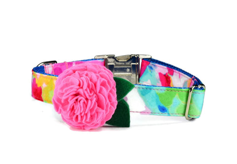 The Monet Bloom Dog Collar w/ Carnation Bloom