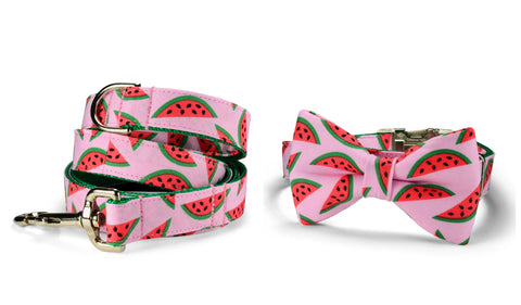 The Watermelon Bow Tie Collar and Leash Set