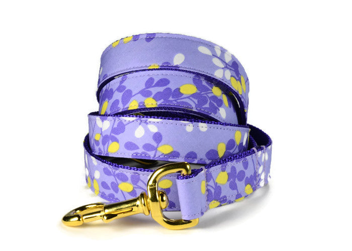 Lovely Lavender Dog Leash (Gold Hardware)