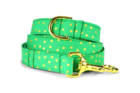 Christmas Bling Bloom Collar and Leash Set w/ Gold Hardware
