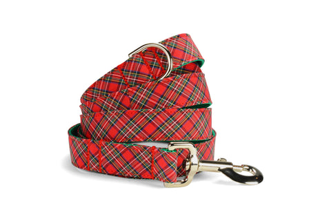 Mistletoe Tartan Bow Tie Collar and Leash Set