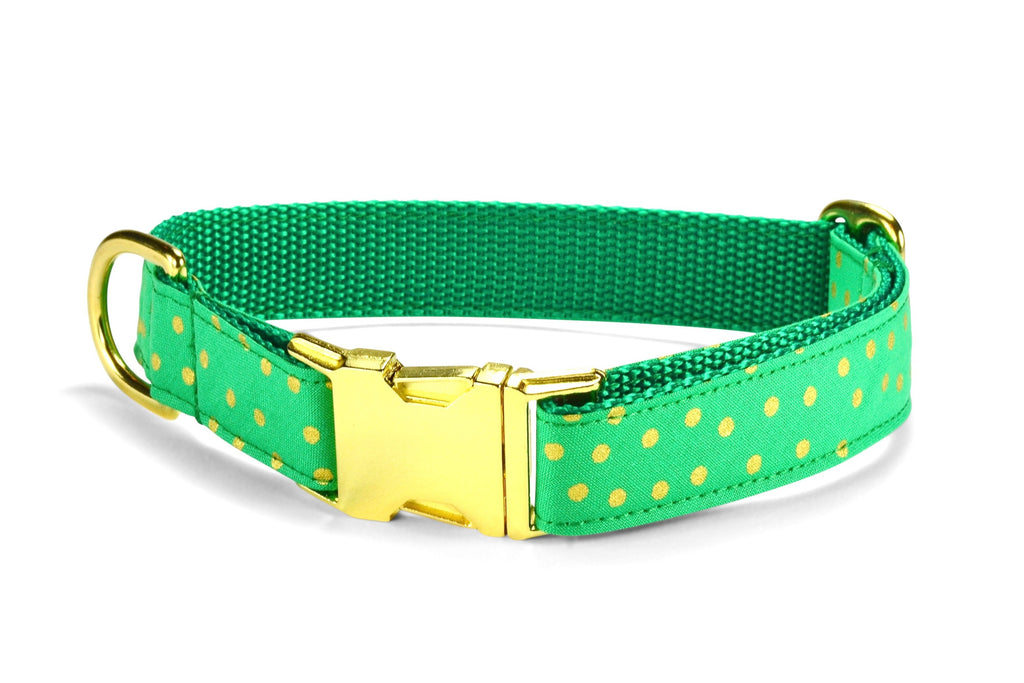 Christmas Bling Dog Collar w/ Gold Hardware