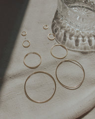 large hoop earrings | hooked large
