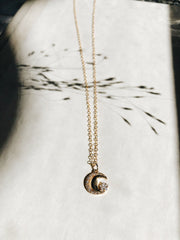 moon charm necklace | Daydreamer