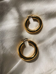 When in Rome Large Gold Hoops