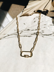 gold statement necklace | Latched