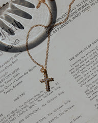 cross necklace | Blessed
