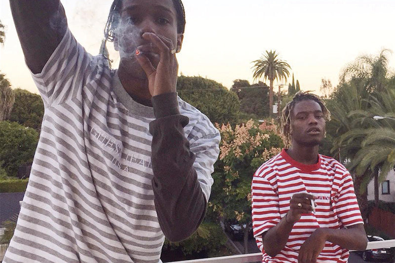 8e7aa8a37f98 with A$AP Rocky and A$AP Nast sporting a Guess large logo long-sleeve tee  and hoodie. Another photo has since surfaced of A$AP Rocky and Ian Connor  wearing ...