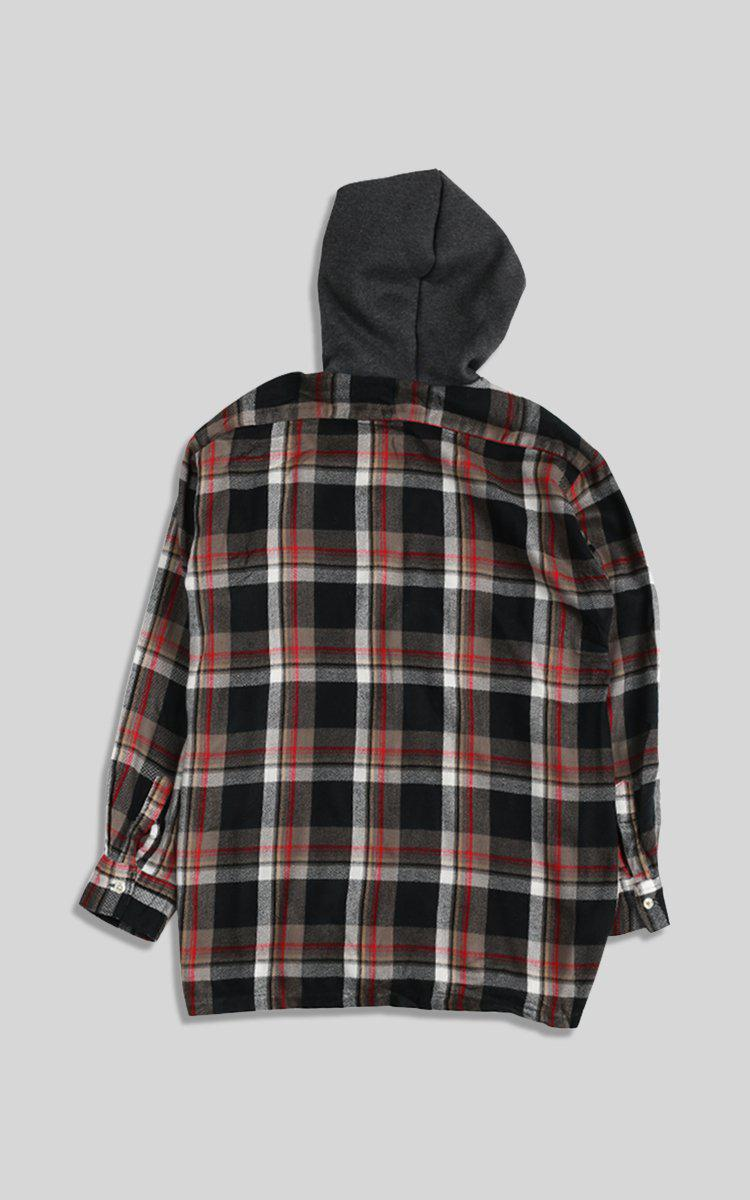 Vintage Rework Hooded Flannel - M