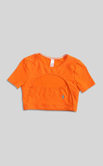 Rework Polo Cut Out Tee - S