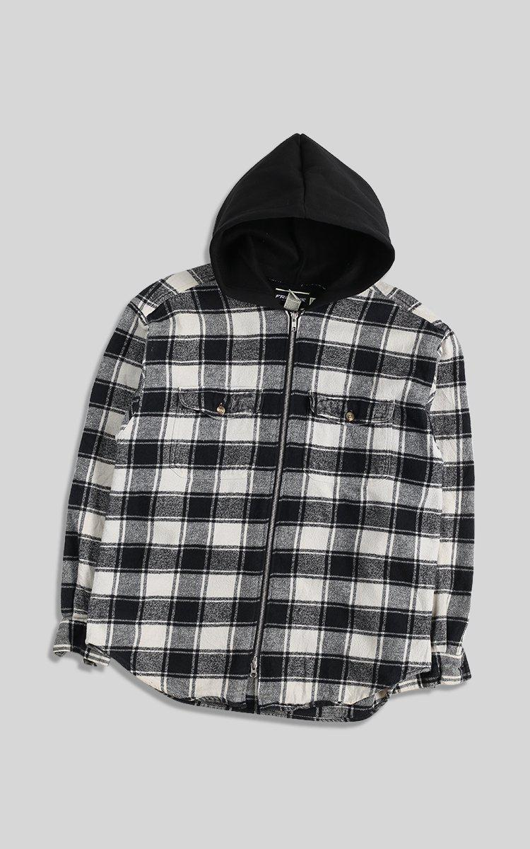 Vintage Rework Hooded Flannel - XL
