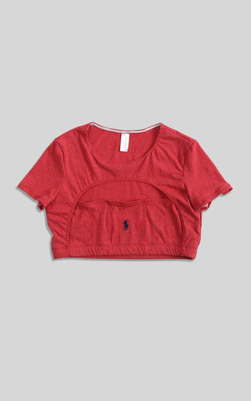 Rework Polo Cut Out Tee - L