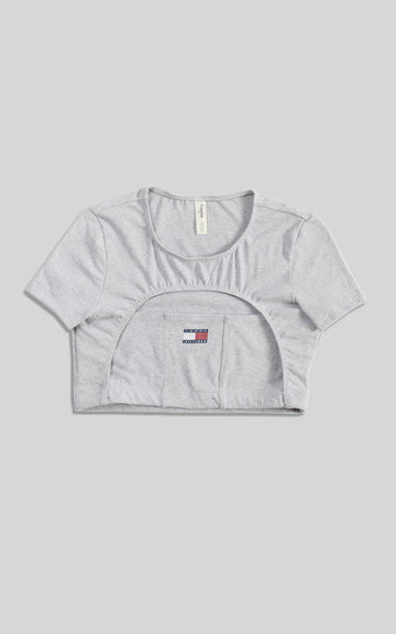 Rework Tommy Hilfiger Cut Out Tee - L