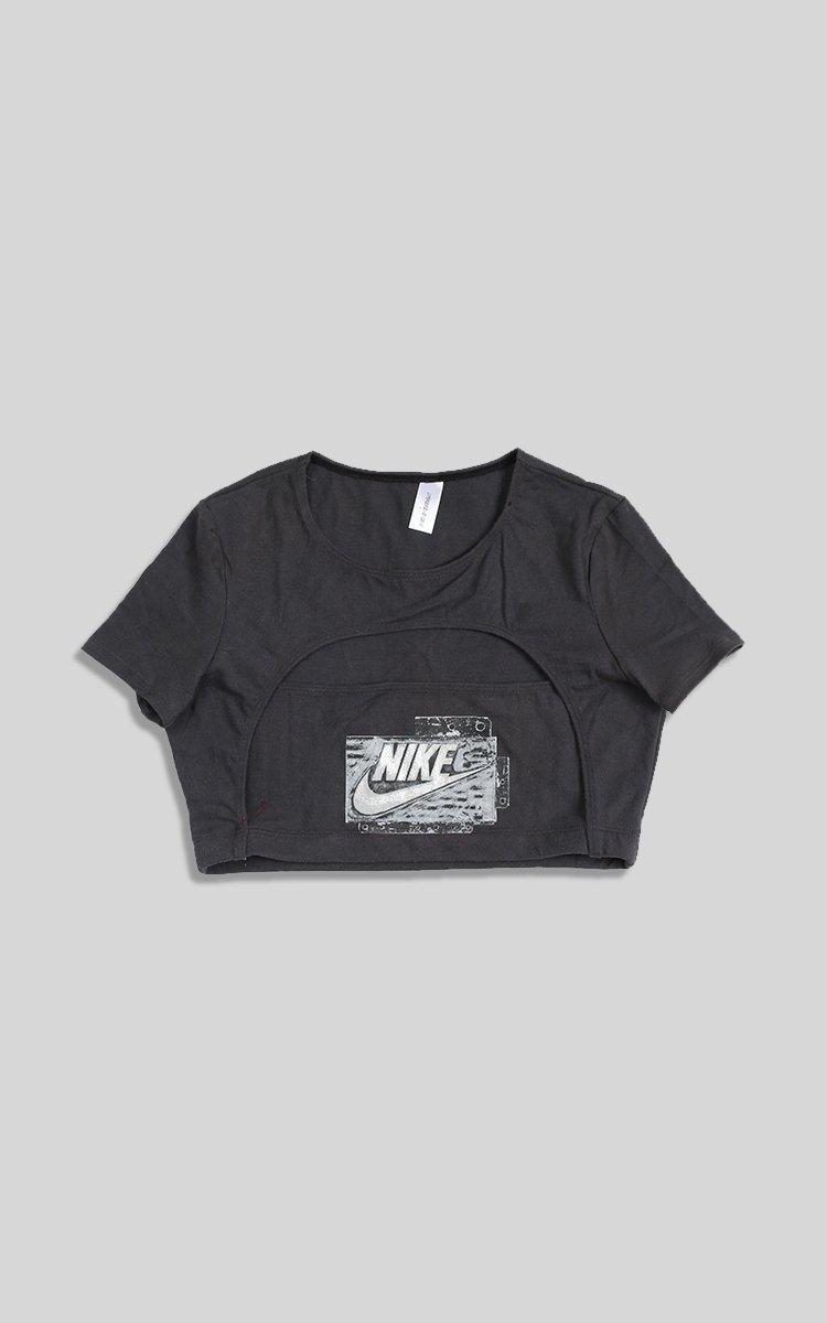 Vintage Rework Nike Cut Out Tee - L