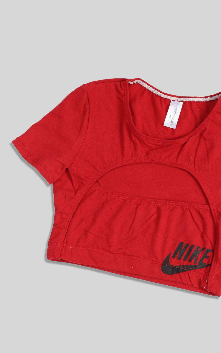 Vintage Rework Nike Cut Out Tee - XS