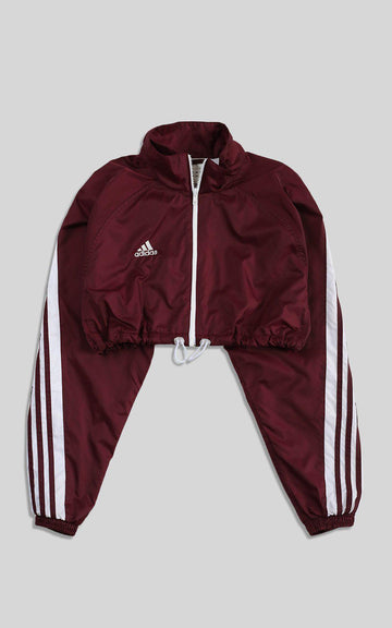 Rework Adidas Cinched Crop Windbreaker - S