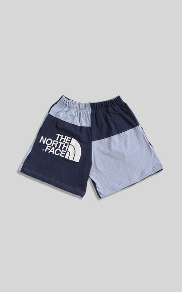 Vintage Rework North Face Patchwork Tee Shorts  - XS
