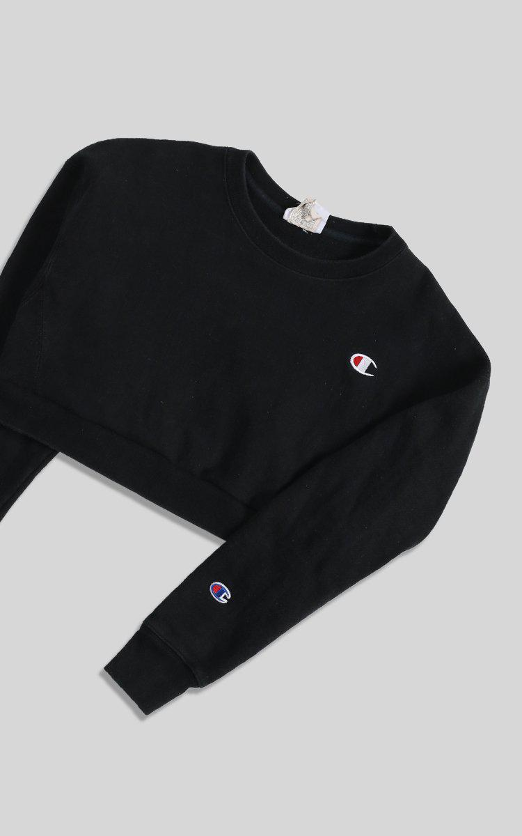 Vintage Champion Crop Sweatshirt - M