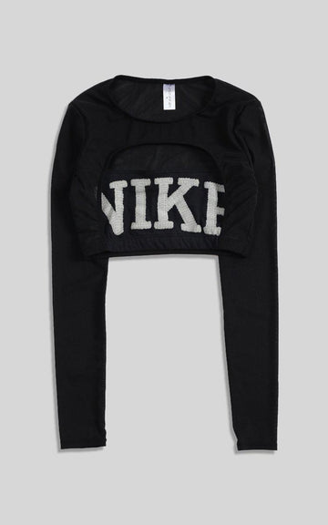 Vintage Rework Nike Cut Out Long Sleeve Tee - M