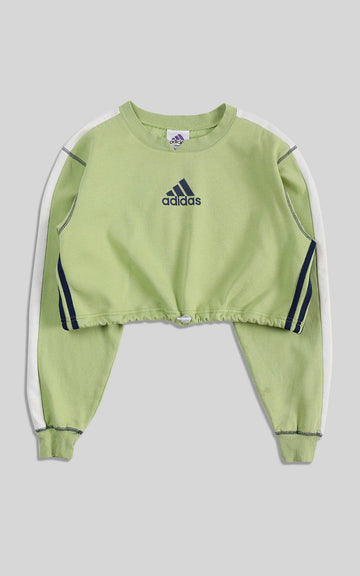 Rework Adidas Cinched Crop Sweatshirt - XL
