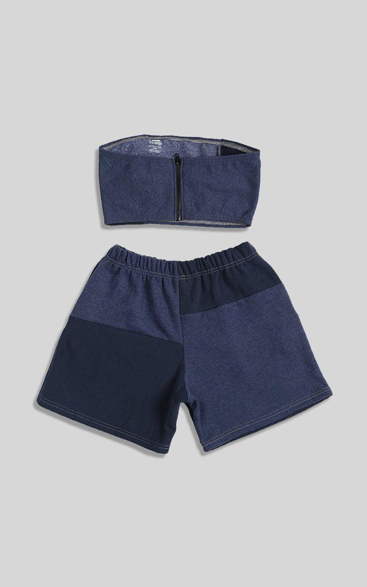 Vintage Rework Patchwork Sweatshorts Set - M