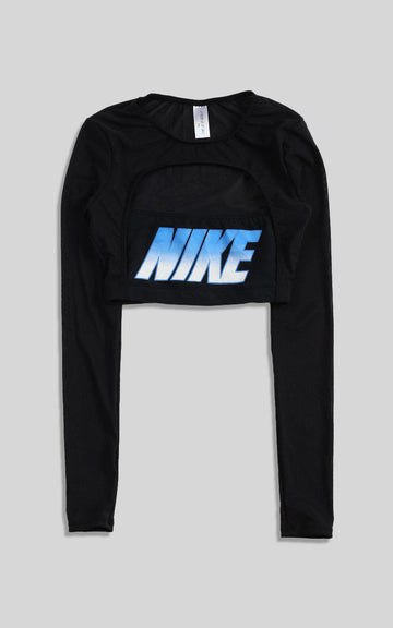 Vintage Rework Nike Cut Out Long Sleeve Tee - XS