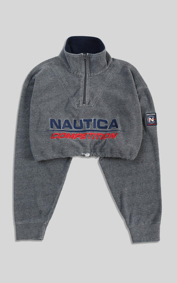 Rework Nautica Cinched Crop Fleece - L