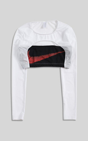 Vintage Rework Nike Cut Out Long Sleeve Tee - L
