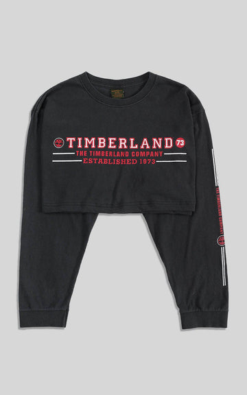 Rework Timberland Crop Long Sleeve Tee - XL