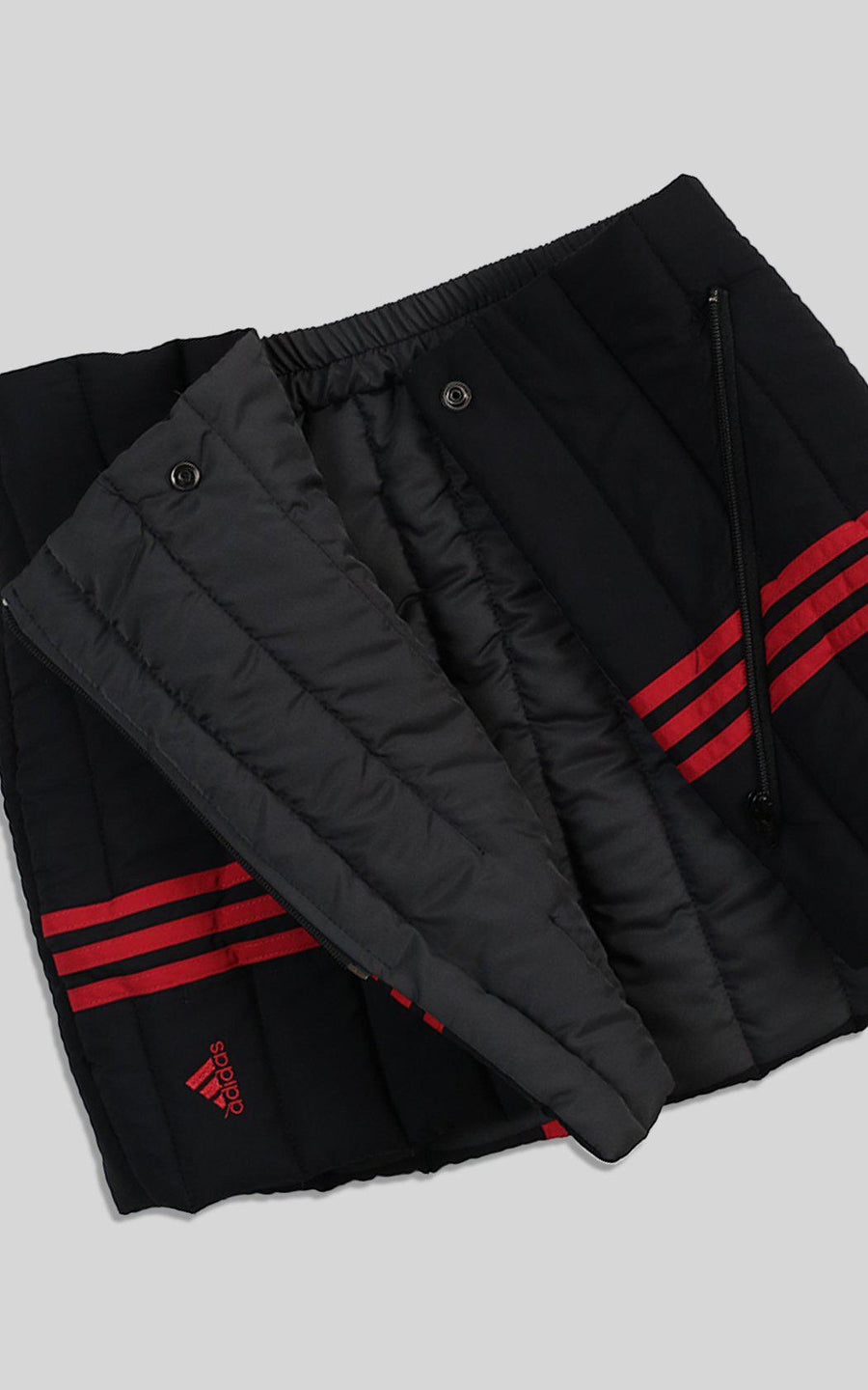 Rework Adidas Quilted Puffer Skirt - L