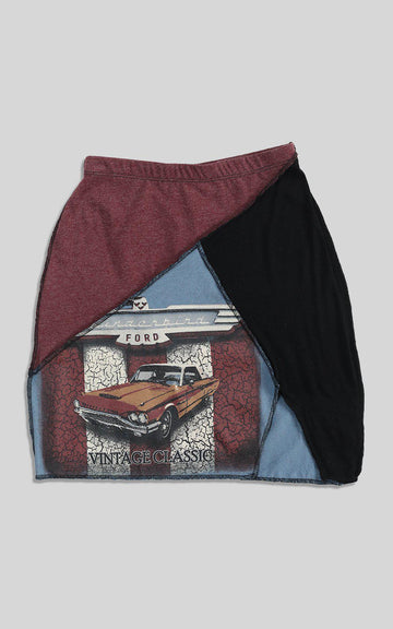 Rework Racing Patchwork Skirt - XS