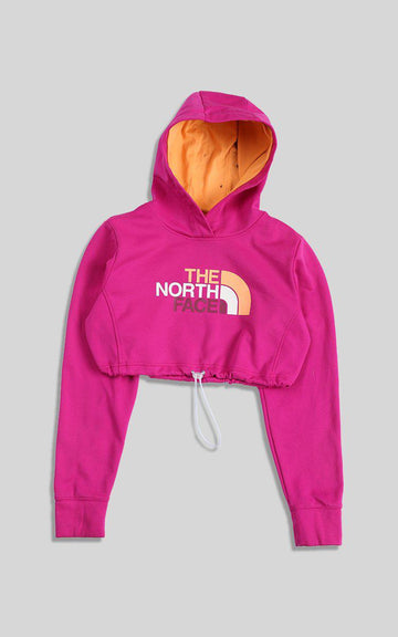 Vintage Rework North Face Cinched Crop Sweatshirt
