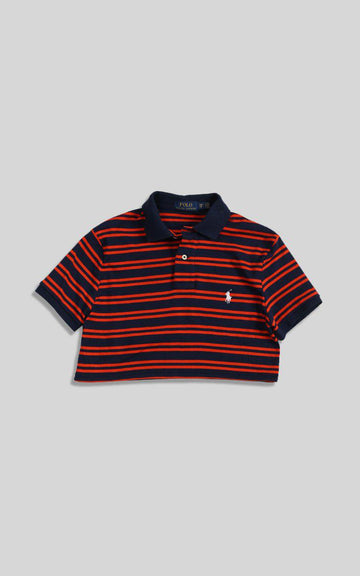 Vintage Polo Crop Collared Tee