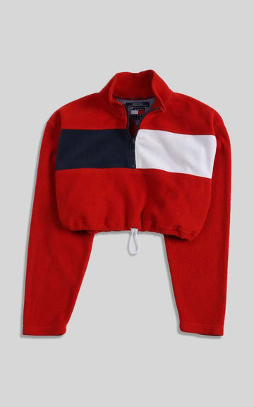 Vintage Rework Tommy Cinched Crop Sweatshirt