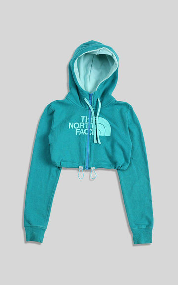 Vintage Rework North Face Cinched Crop Zip Sweatshirt
