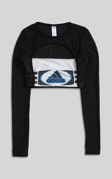 Vintage Rework Adidas Cut Out Long Sleeve Tee - XS