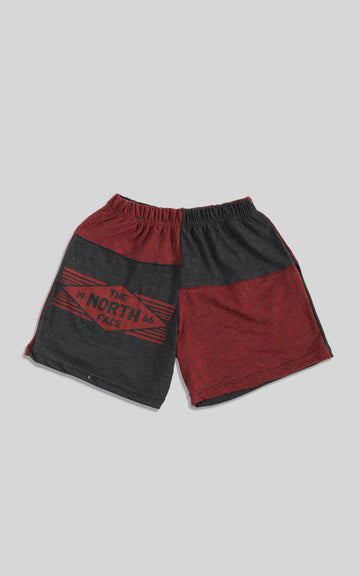 Rework North Face Patchwork Tee Shorts  - S