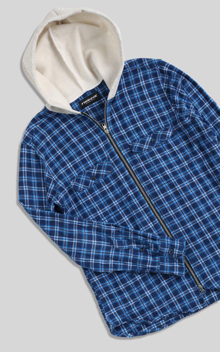 Vintage Rework Hooded Flannel - L