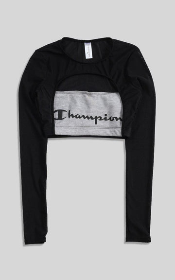 Vintage Rework Champion Cut Out Long Sleeve Tee - XS